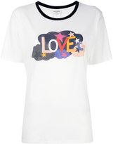 Saint Laurent Love ringer T-shirt - women - Cotton - M