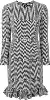 House of Holland chevron fitted dress