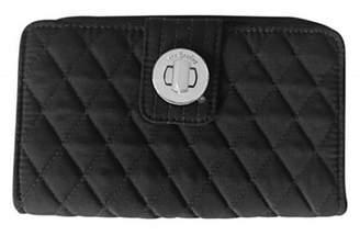 Vera Bradley Black Turnlock Wallet