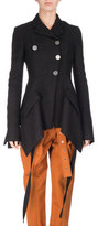 Proenza Schouler Asymmetric Tweed Coat, Black