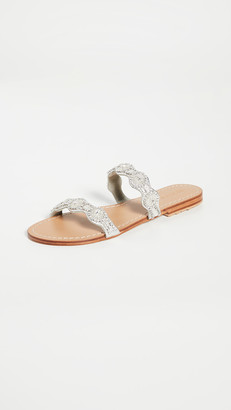 Mystique Double Strap Crystal Embroidered Slides