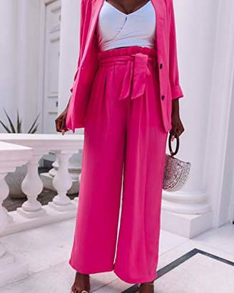 The Drop pants with paperbag waist, loose fit,M