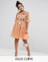 Asos Mesh Scatter Sequin Mini Dress