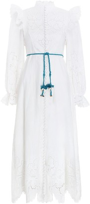 Zimmermann Carnaby Scallop Long Dress