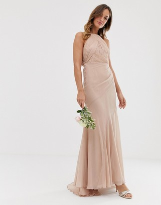 ASOS DESIGN Bridesmaid pinny bodice maxi dress with fishtail skirt
