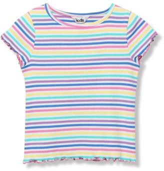 M&Co Lettuce hem rainbow t-shirt (9mths-5yrs)