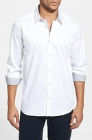 Ted Baker Men's 'Plancuf' Modern Slim Fit Stretch Sport Shirt