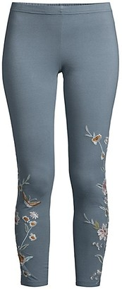 Johnny Was Serafina Embroidered Leggings