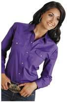 Roper Western Shirt Womens L/S Snap Solid L Purple 03-050-0265-1067 PU