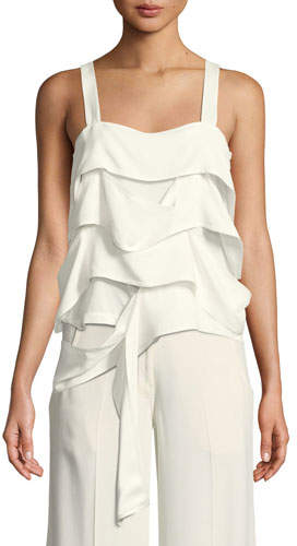 Derek Lam Draped-Panel Georgette Camisole
