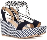 Gianvito Rossi Antibes Mid suede wedge sandals