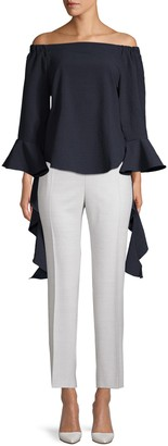J.o.a. Off-The-Shoulder Bell-Sleeve Top