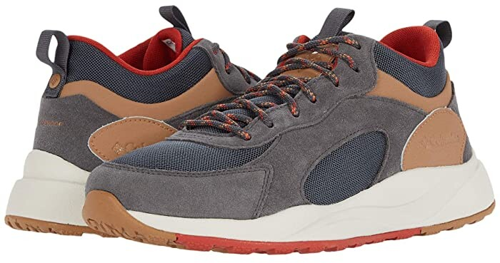 Columbia Pivot Mid Waterproof (Dark Grey/Rust Red) Men's Shoes