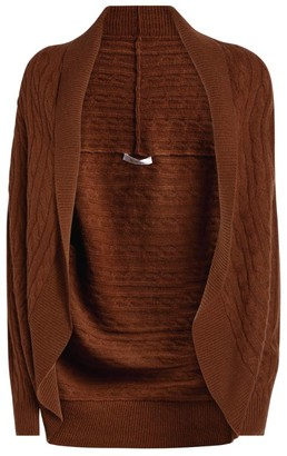 Max Mara Cable-Knit Shawl Cardigan