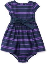 Ralph Lauren Striped Sateen Dress & Bloomer