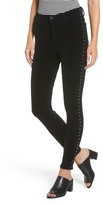 Band of Gypsies Women's Lola Studded Skinny Jeans