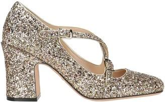 Christian Dior Block Heel Glitter Pumps