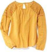 Old Navy Lace-Trim Swing Tee for Girls