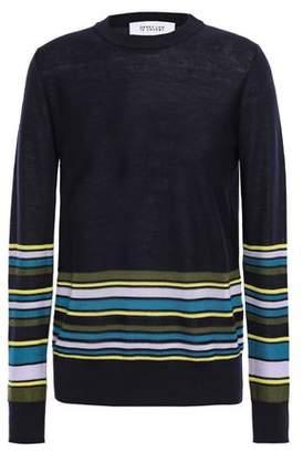 Derek Lam 10 Crosby Striped Wool, Silk And Cashmere-blend Sweater
