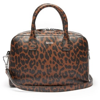 Ganni Leopard-print Leather Cross-body Bag - Leopard