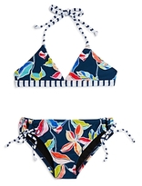 Splendid Girls' Tropical Print 2-Piece Swimsuit - Big Kid