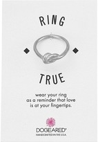 Dogeared Large Love Knot Ring