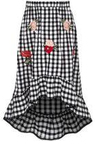 River Island Girls black gingham high-low hem maxi skirt