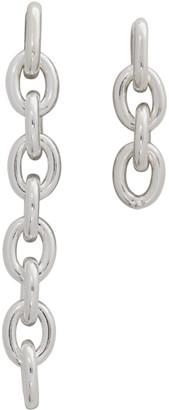 Numbering Silver 841 Asymmetric Earrings
