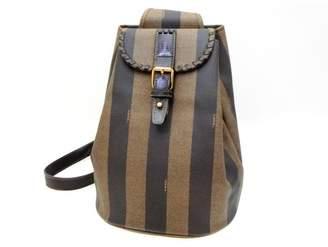 Fendi Brown Leather Backpacks