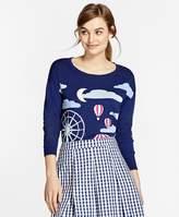 Brooks Brothers Cotton Intarsia Crewneck Sweater