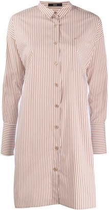 Steffen Schraut Striped Shirt Dress