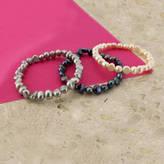 Glass Heart Argent of London Freshwater Pearl Bracelet
