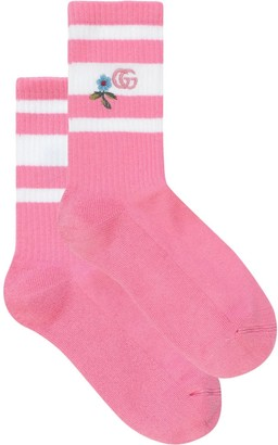 Gucci embroidered GG knitted socks