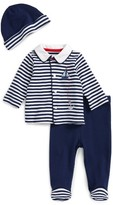 Little Me Infant Boy's Take Me Home - Sailor Shirt, Footed Pants & Hat Set
