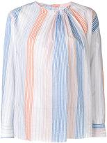 Stella McCartney gathered stripe top - women - Cotton/Cupro - 38