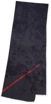 "Alexander McQueen Wool Logo Long Scarf, 72"" x 27"""