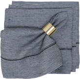 Caravan Linen Stitch Chambray Stripe Napkins