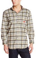 Dickies Men's Flame-Resistant Long Sleeve Plaid Shirt