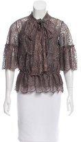 Robert Rodriguez Lace Tie-Accented Top
