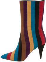 Alice + Olivia Striped Mid-Calf Boots