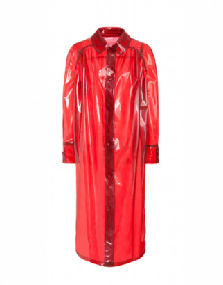 Moschino Vinyl Raincoat Woman Red Size 38 It - (4 Us)