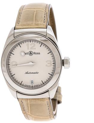 Bell & Ross Silver Stainless Steel Mystery 215S Women's Wristwatch 31MM