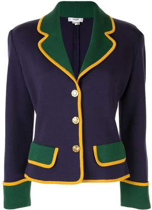 Celine Pre-Owned colourblock fitted jacket