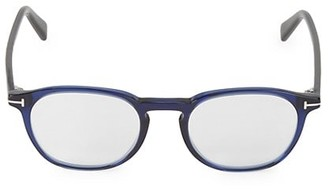 Tom Ford 50MM Round Blue Block Filter Optical Glasses