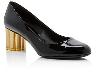 Salvatore Ferragamo Women's Lucca Patent Leather Floral Heel Pumps