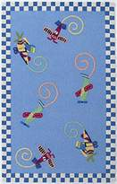 KAS Rugs KID04172X3 Kidding Around Flying Fun Round Area Rug, 2 by 3-Feet