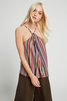 BCBGeneration Striped High-Neck Cami - Flinestone