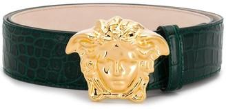 Versace Medusa buckle leather belt