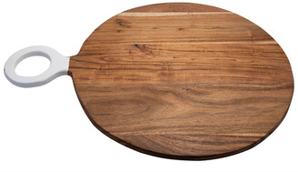 BIDKhome Acacia Wood Round. Cutting Board With Handle