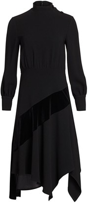 Teri Jon by Rickie Freeman Crepe Midi Dress